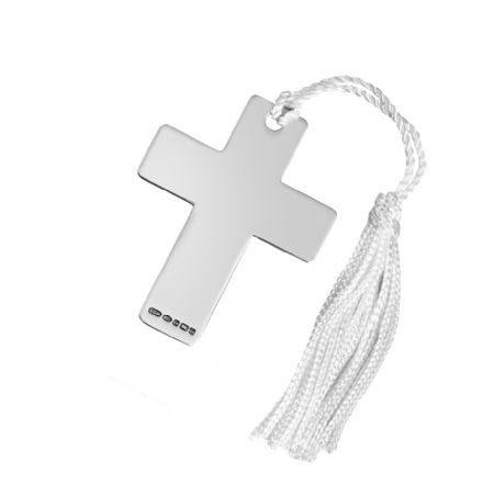 Hallmarked Sterling Silver Cross Shaped Bookmark